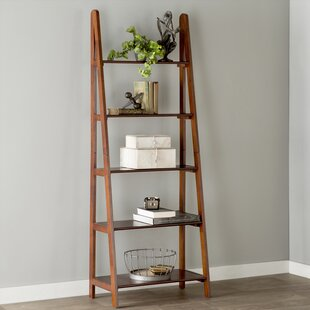 leaning bookcases & ladder shelves you'll love | wayfair Ladder Nightstand