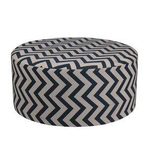 Chevron Round Ottoman by Privilege
