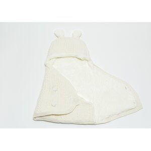 Little Bear Heart Knitted Wool Blended Baby Swaddle/Wrap