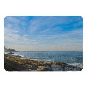 Blue Sky Over The Ocean by Nick Nareshni Bath Mat