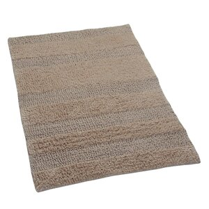 Verne 100% Cotton Wide Cut Reversible Bath Rug