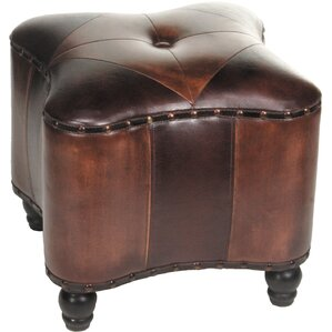 Lisette Leather Ottoman by Import Collection