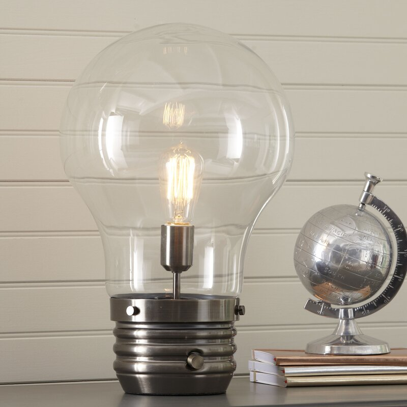 Birch lane kids edison 18 table lamp with globe shade reviews edison 18 table lamp with globe shade aloadofball Image collections