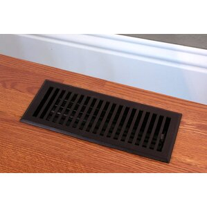 Perfect Solid Cast Iron Contemporary Vent Cover In Black