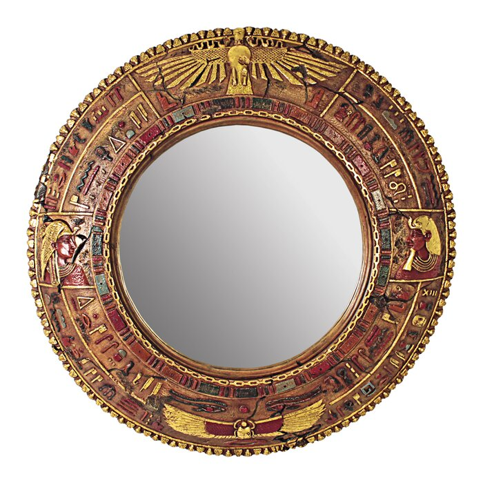 Egyptian Grand Scale Wall Sculpture Mirror