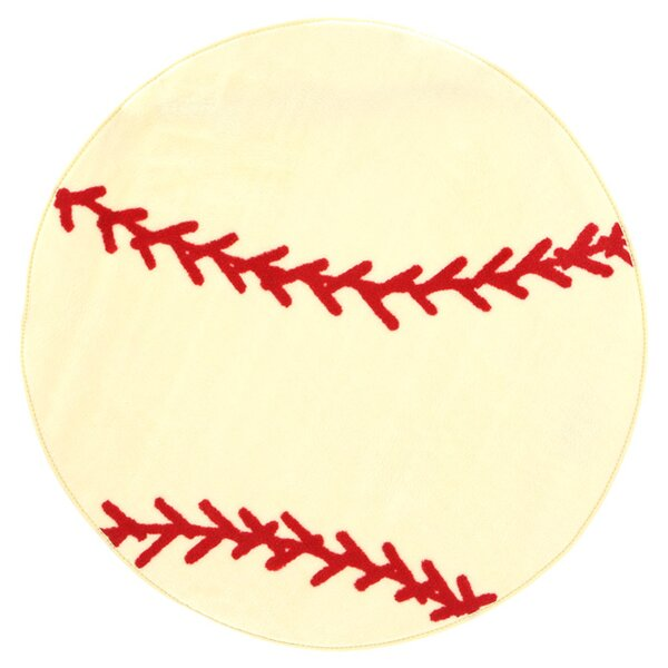 Fun Rugs Shape High Pile Baseball Sports Area Rug Reviews Wayfair