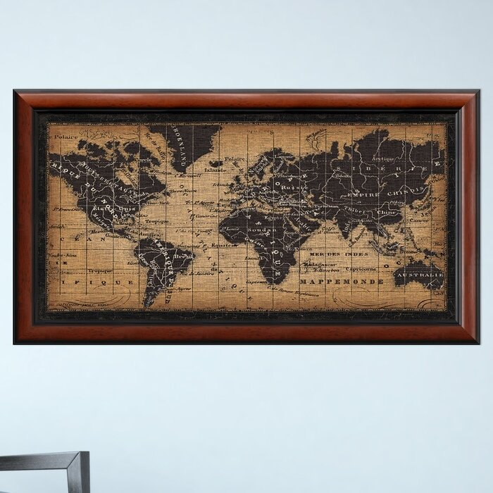 Darby Home Co Old World Map Framed Graphic Art | Wayfair