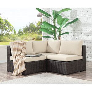 Alycia 3 Piece Sectional Set with Cushions