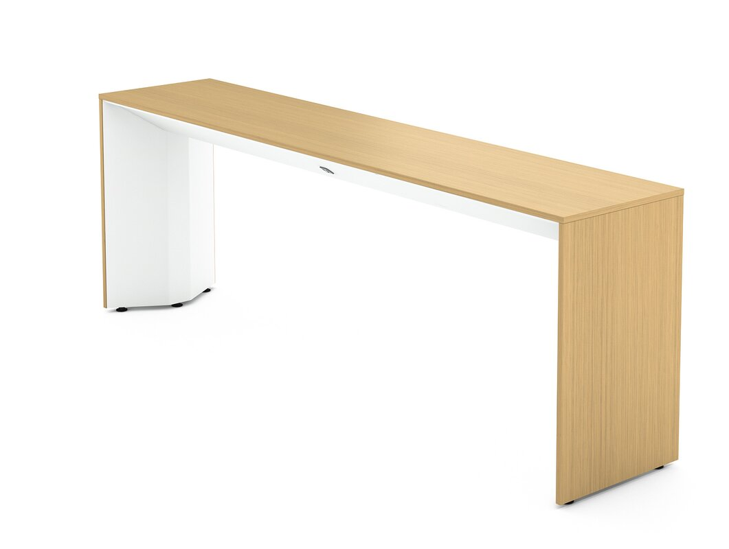 Slimline Console Table steelcase campfire slim console table & reviews | wayfair