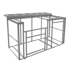 Outdoor Kitchen Island with Bartop Frame Kit