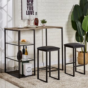 Maclachlan 3 Piece Pub Table Set
