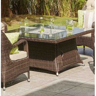 Lepley Resin Wicker Propane/Natural Gas Fire Pit Table