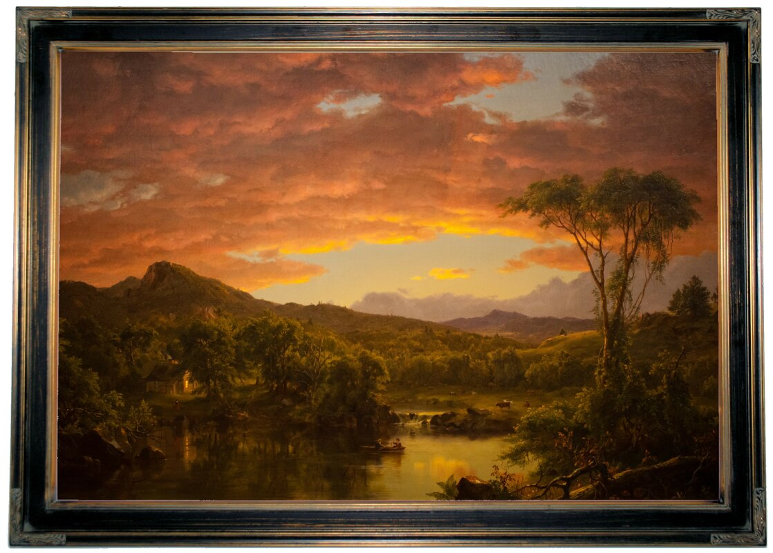 A Country Home By Frederick Edwin Church Framed Painting Print