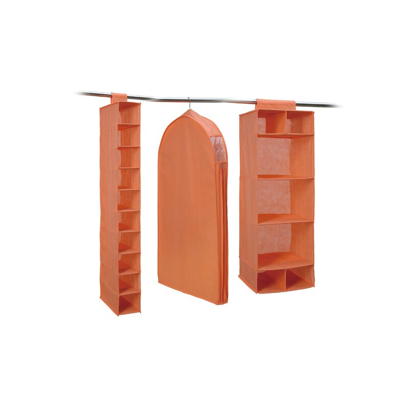 Genial 3 Piece Hanging Closet Organizer Set