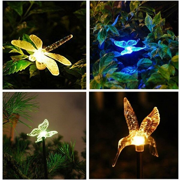 Mosaic Glass Outdoor Solar Power Ball Garden Stake Color Changing Lawn Led Light Making Things Convenient For The People Lights & Lighting Led Lamps