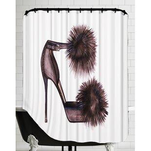 Pom Heels Shower Curtain