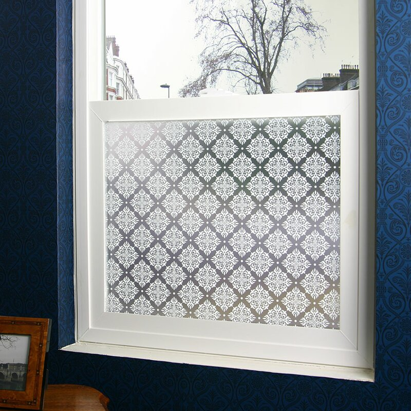 privacy window film bathroom damask privacy window film stick pretty reviews wayfair