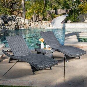 Colletti 3 Piece Chaise Lounge Set