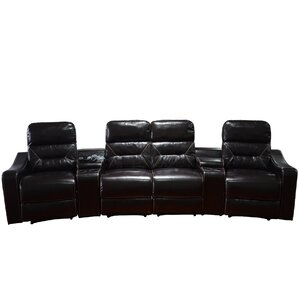 MCombo Leather Home Theater Recliner (Row of 4) by Newacme LLC