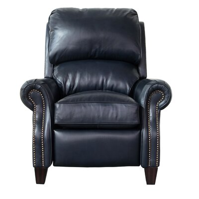 Blue Leather Recliners You Ll Love Wayfair