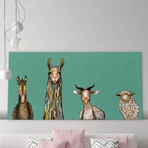 'Donkey Llama Goat Sheep' Print