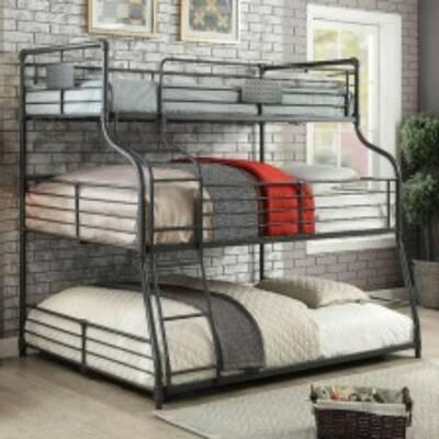 Harriet Bee Oakengates Twin Over Full Over Queen Bunk Bed Wayfair