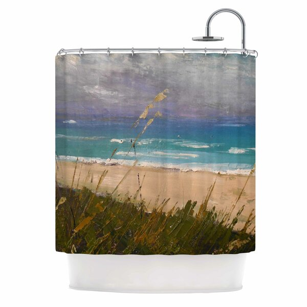 East Urban Home Carol Schiff Florida Beach Scene Coastal Shower Curtain