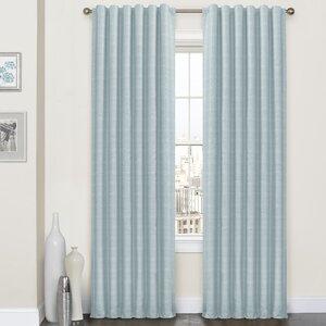 Burnet Striped Blackout Thermal Rod Pocket Single Curtain Panel