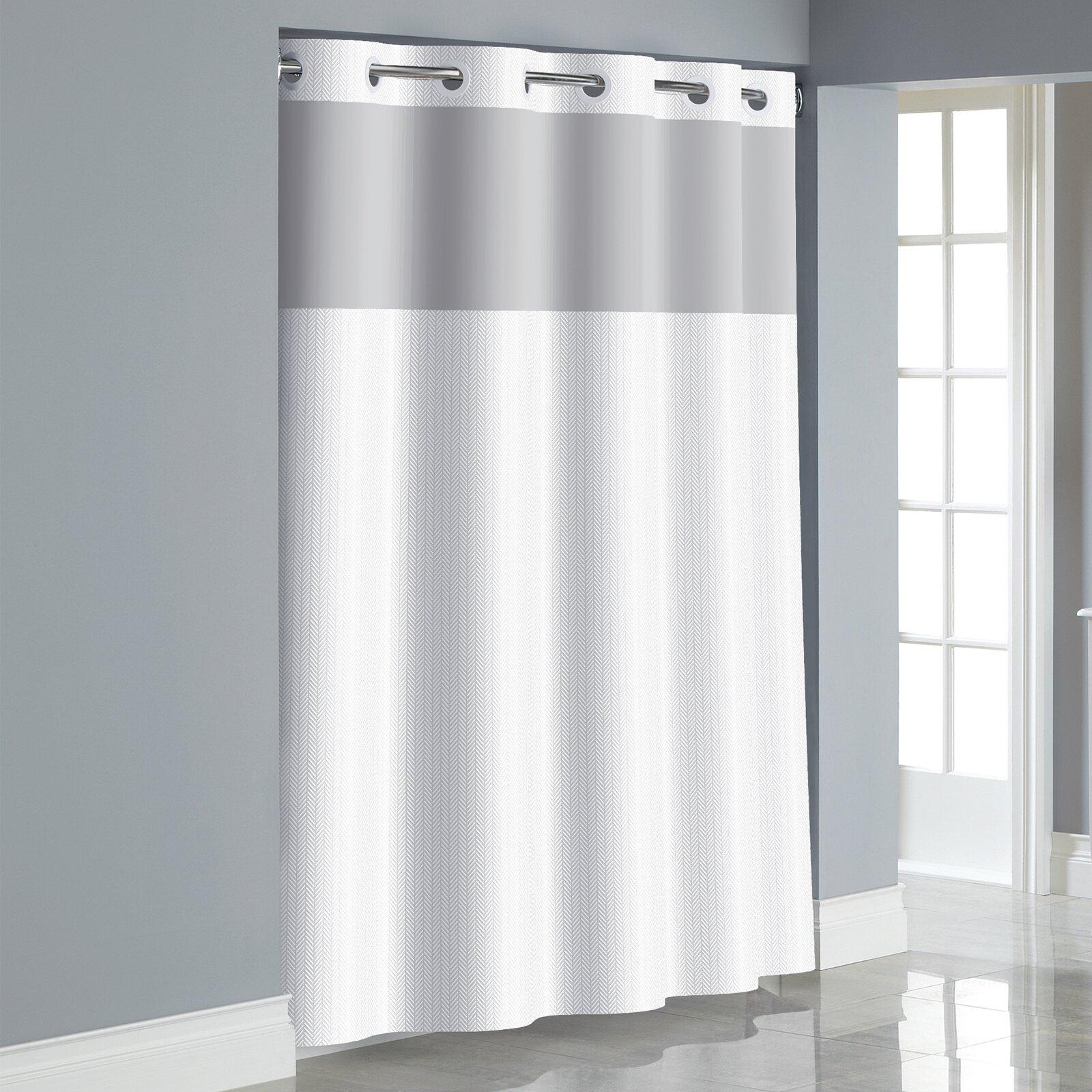 Hookless Herringbone Single Shower Curtain Reviews