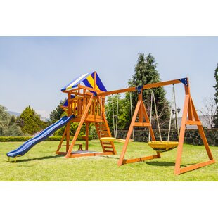 Ashberry Wooden Swing Set Wayfair