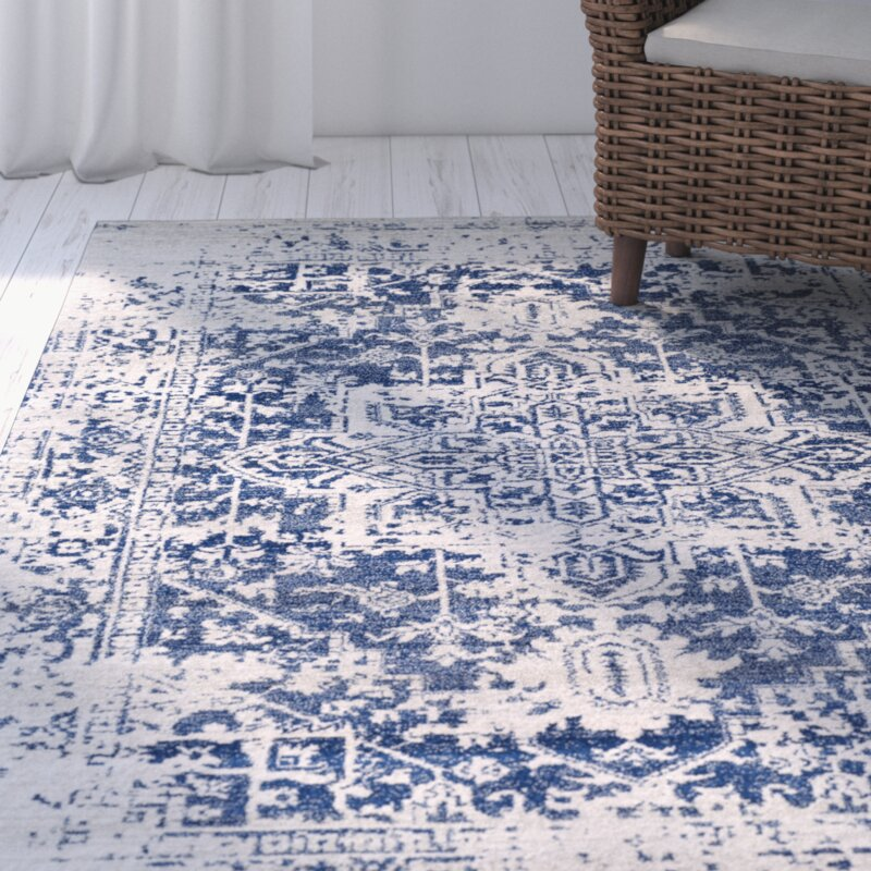 Hillsby Oriental Blue Beige Area Rug Amp Reviews Allmodern