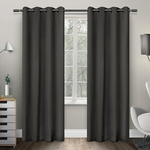 tamara solid room darkening grommet curtain panels set of 2