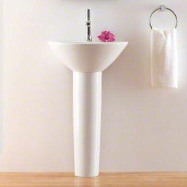 Parigi Ceramic 20 Pedestal Bathroom Sink
