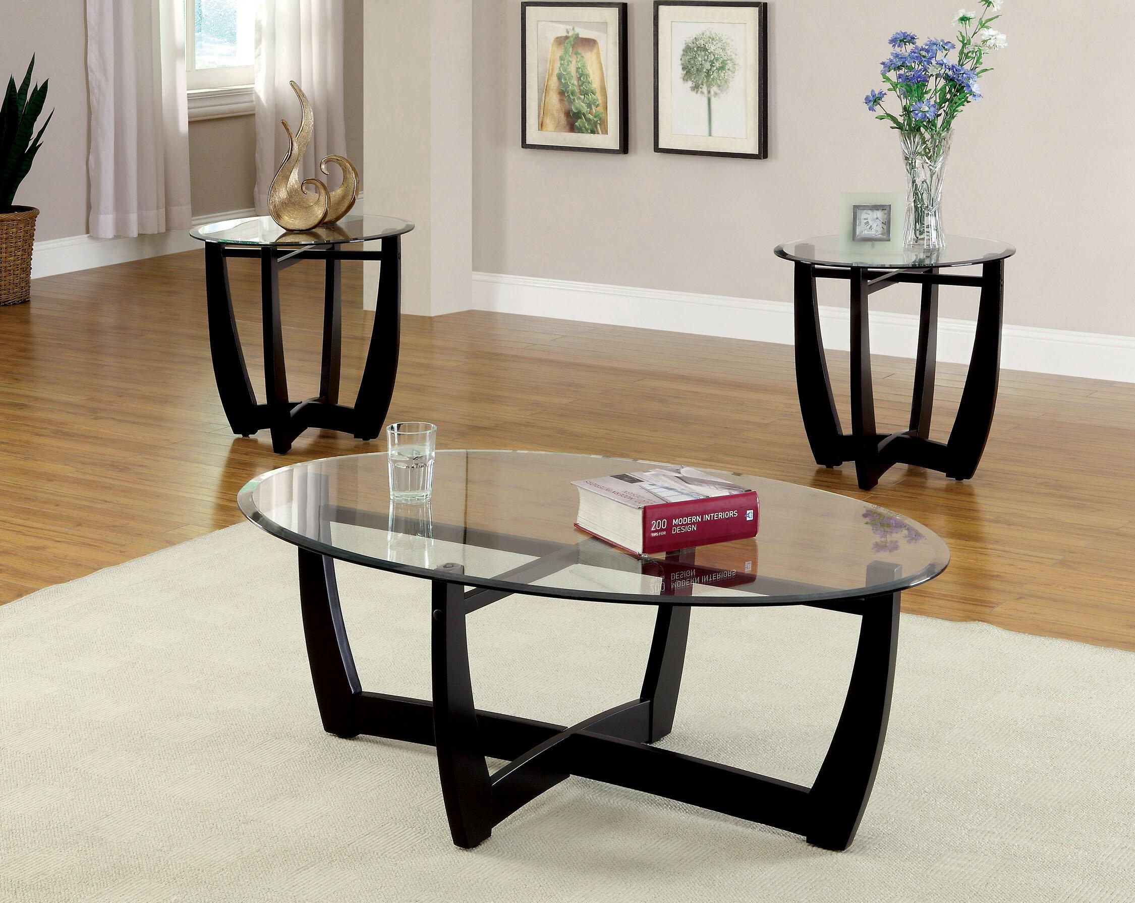 Latitude Run Mattie 3 Piece Coffee Table Set & Reviews   Wayfair