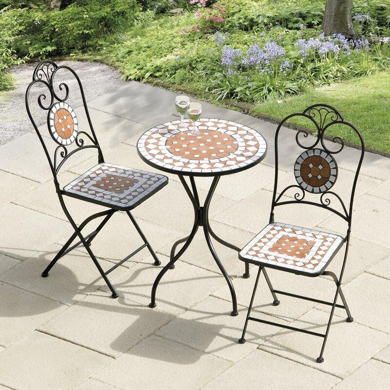 Bistro Set bungalow lowery mosaic 3 bistro set reviews