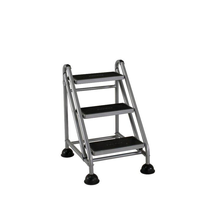 the step stool black depot stools bk vestil rolling in home p