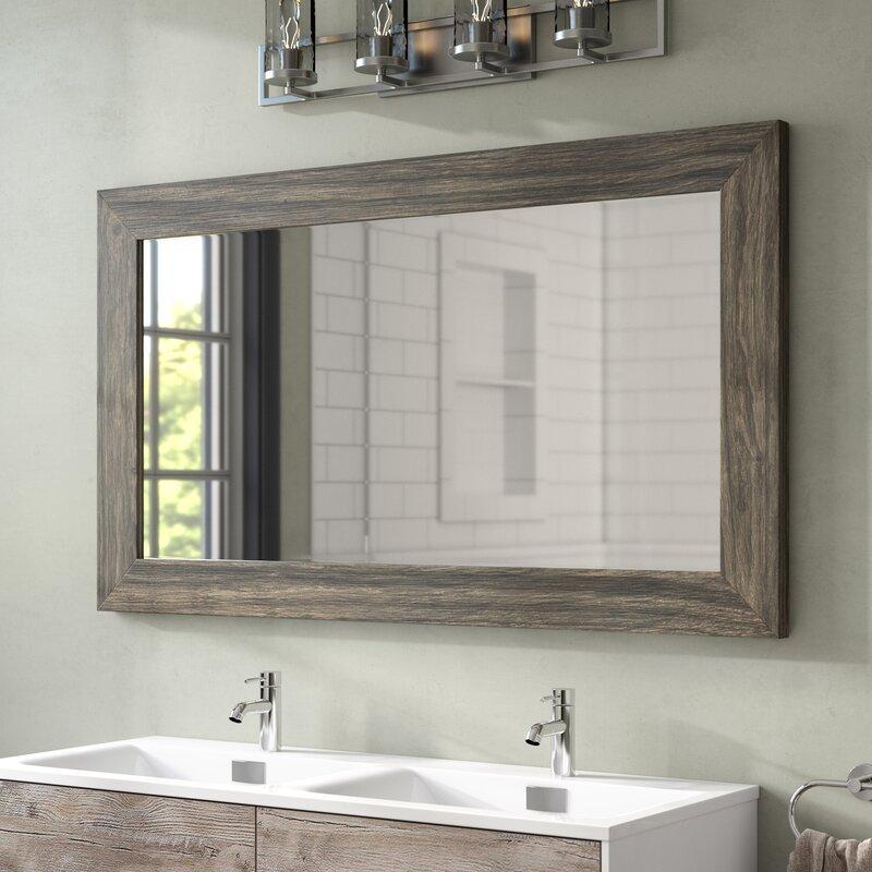 Union Rustic Landover Barnwood Bathroom Mirror Amp Reviews