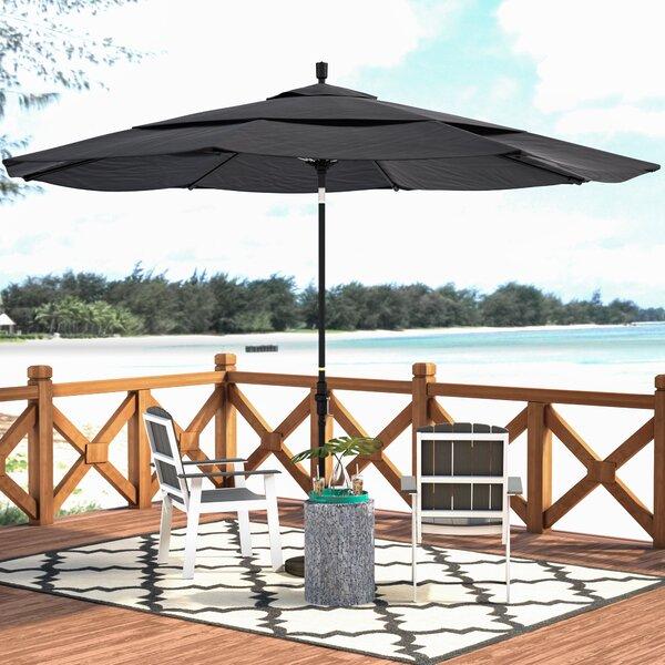 Beachcrest Home Keegan 11u0027 Market Umbrella U0026 Reviews   Wayfair