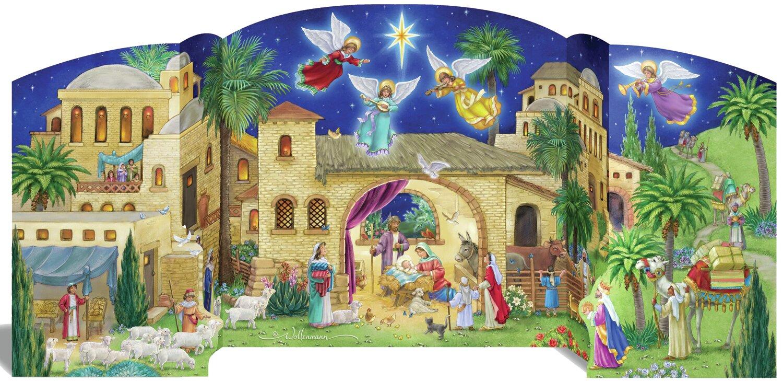 The Holiday Aisle Bethlehem Nativity Advent Calendar Reviews Wayfair