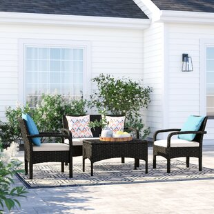 Great choice Bayside 4 Piece Rattan Sofa Seating Group with Cushions Sol 72 Outdoor