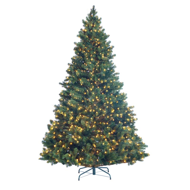 deluxe 75 green pine artificial christmas tree with 800 light with stand - Artificial Christmas Tree Stand