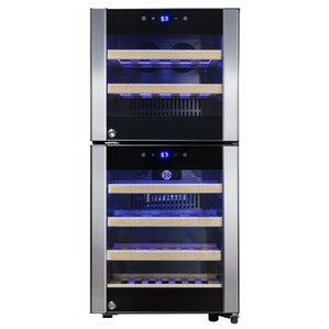 33 Bottle Dual Zone Convertible Wine Cooler by A..