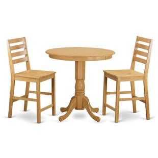 Jackson 3 Piece Counter Height Pub Table Set Best #1