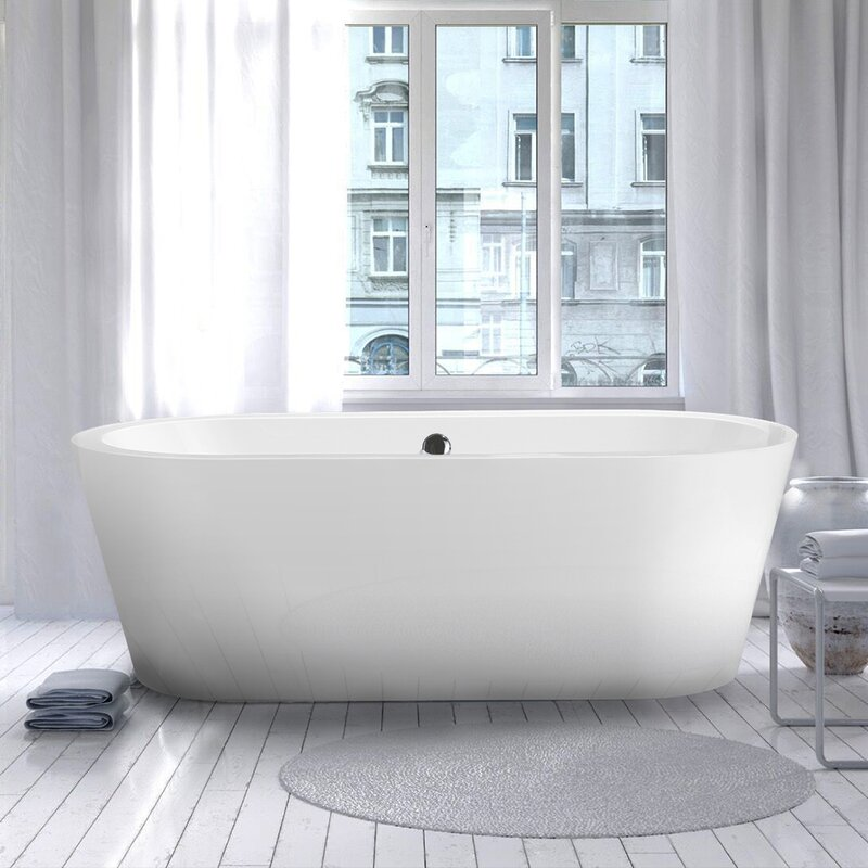 "vinnova melania 68"" x 32"" soaking bathtub & reviews 