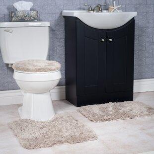 Florence 3 éléments de salle de bain Tapis et toilette Jeu de housse siège
