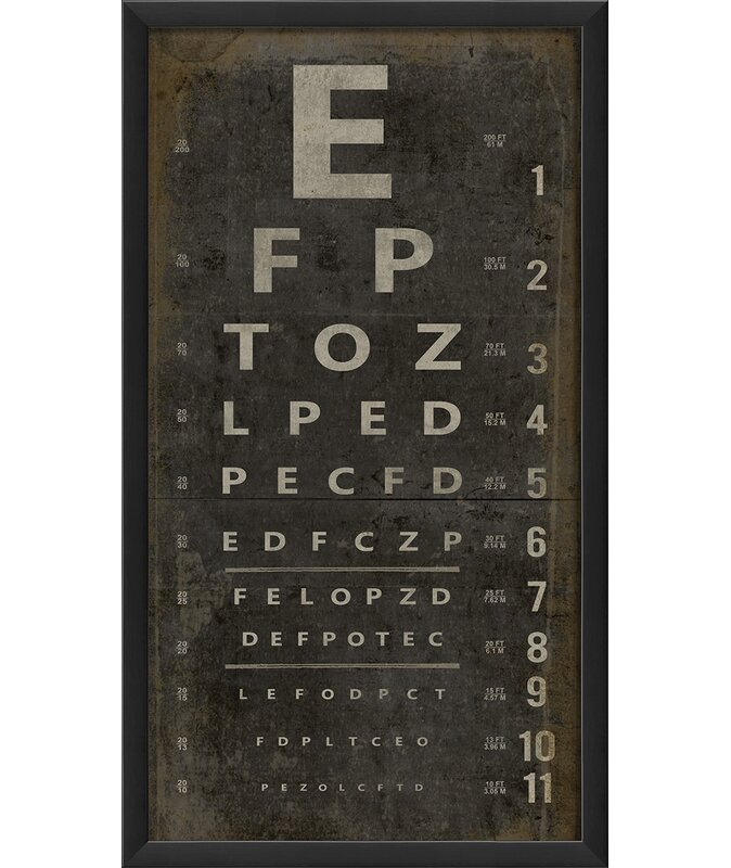 Trent Austin Design Eye Chart Framed Textual Art