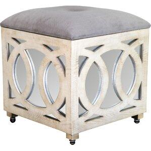 J Statements Tyra Mirrored Cube Ottoman