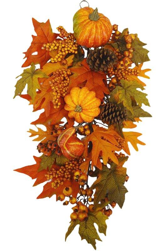 Fall Harvest Door Swag