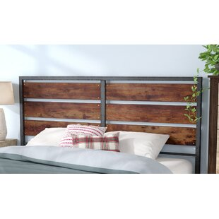 Abril Metal And Wood Plank Queen Slat Headboard
