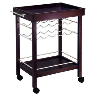 Maryln 10 Bottle Wine Bar Cart